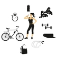 fitness women set vector image vector image
