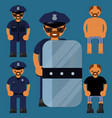 flat character polesaman police officer vector image