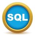 Gold sql icon vector image