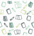hand drawn books icon seamless pattern vector image vector image