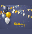 happy birthday holiday design for greeting cards vector image vector image