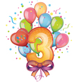 Happy birthday three vector image vector image