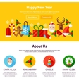 Happy New Year Website Design vector image vector image