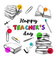 happy teachers day banner 1 vector image