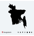 high detailed map of bangladesh with navigation