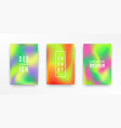 holographic retro 80s 90s covers set vector image vector image