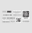 identification code barcode for scanning vector image vector image