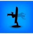 Jumping man in monitor vector image