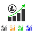 litecoin growing graph trend icon vector image vector image