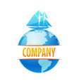 logo for delivery company travel cruise vector image vector image