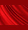 luxurious fabric red background silk drapery