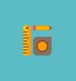 measurement tools icon flat element vector image