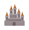 medieval fantasy castle great royal fortress with vector image