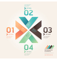Modern arrow origami options banner vector image vector image