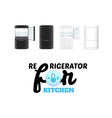 Modern refrigerator isolated on white background vector image vector image