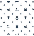 muscle icons pattern seamless white background vector image vector image