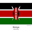 National flag of Kenya with correct proportions vector image vector image
