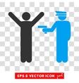 Police Arrest Eps Icon vector image vector image