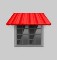 red awning on window vector image vector image