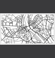 riga latvia map in black and white color vector image vector image