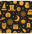 Seamless Halloween gold textured pattern vector image vector image