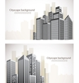 Set of cityscape banners vector image