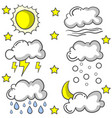 set of cloud style various vector image vector image