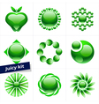 Set of green icons design element business logo vector image vector image