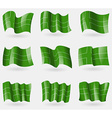 Set of Ladonia flags in the air vector image