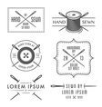 Set of vintage tailor labels and emblems vector image