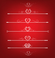 Set Valentines Day Design Elements vector image vector image