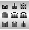 several building icons set vector image