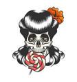Skull with lollipop