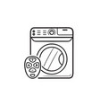 smart washing machine hand drawn outline doodle vector image vector image