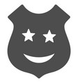 smile police shield flat icon vector image vector image