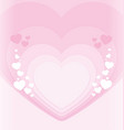 soft pink hearts valentines background vector image