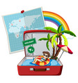 summer holiday on suitcase vector image