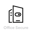 switch office secure security icon editable line vector image vector image