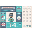 Virtual Reality flat design Infographic Template vector image