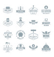 wine logo icons set simple style vector image vector image