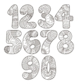 Zentangle numbers set Collection of doodle vector image vector image