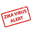 zika virus alert message in red shape eps10 vect vector image