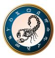 zodiac wheel with sign scorpio vector image vector image