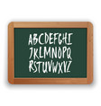 a to z uppercase letters on green vector image vector image