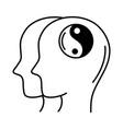 alzheimer disease male profile silhouette brain vector image