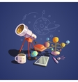 Astronomy cartoon set vector image