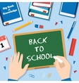Back to School Flat Style Background With Chalk vector image