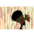 banner portrait beauty african woman in turban vector image vector image