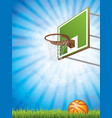 basketball concept with hoop and vector image vector image