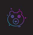 bear icon design vector image vector image